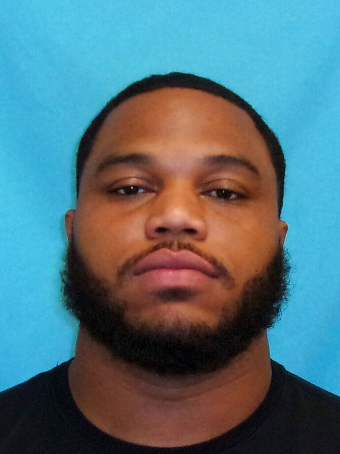 This photo provided by the Frisco Police Department shows Antwaun Woods. Dallas Cowboys defensive tackle Antwaun Woods has been arrested on charges of possession of marijuana and tampering with evidence. Police in the Dallas suburb of Frisco say Woods was arrested Tuesday, Dec. 3, 2019, after a traffic stop. (Frisco Police Department via AP)