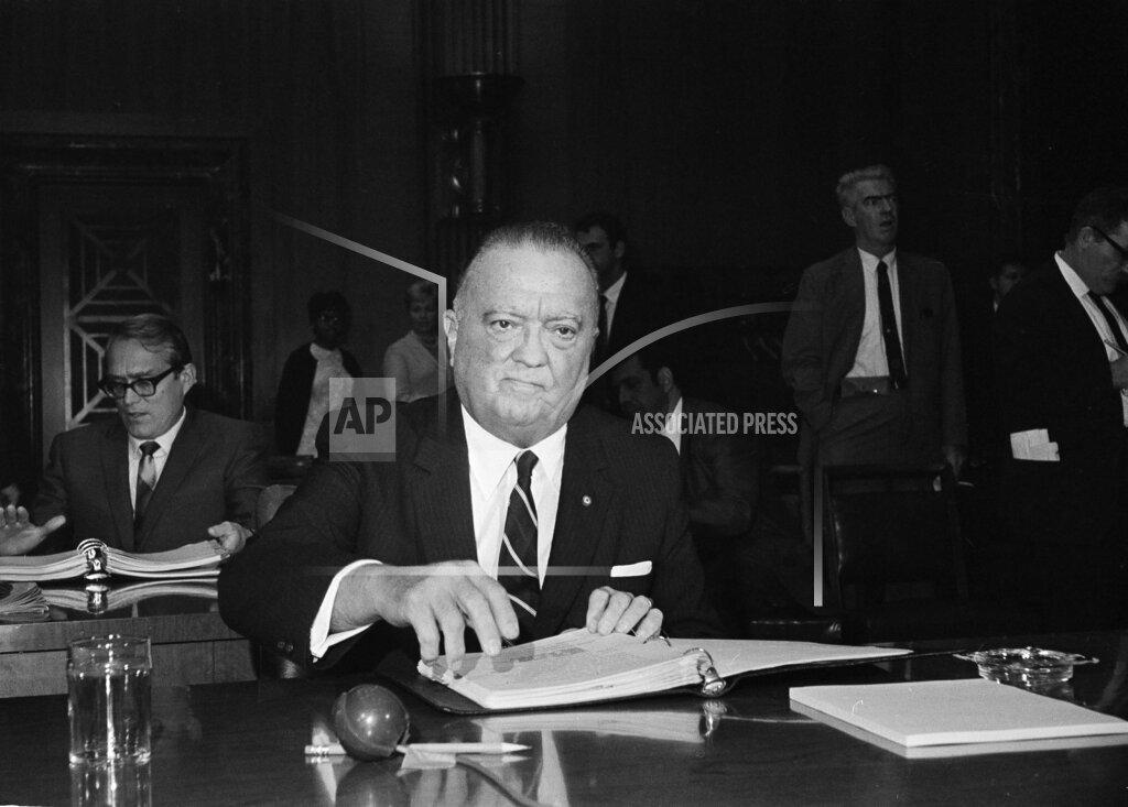 Watchf AP A  DC USA APHS104014 J. Edgar Hoover 1968
