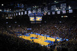FILE - In this Wednesday, Feb. 1, 2017, file photo, the Kansas Jayhawks host the Baylor Bears during an NCAA college basketball game at Allen Fieldhouse in Lawrence, Kan. For coaches, lawyers and other leaders in college basketball, the approach of the upcoming 2019-2020 season has been nothing like business as usual. The storied Jayhawks program faces serious questions about whether it will remain eligible for the postseason come March 2020 in the wake of NCAA allegations of recruiting fraud that could sink both the program and its Hall of Fame coach, Bill Self. (AP Photo/Reed Hoffmann, File)
