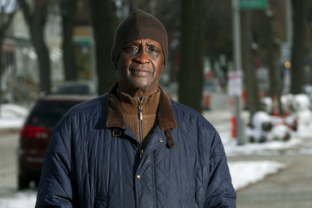 In this Thursday, Nov. 14, 2019 photo, Jerome Dillard poses in Milwaukee. Dillard, a former inmate who is now the state director of Milwaukee-based advocacy group Ex-incarcerated People Organizing, supports ending prison gerrymandering. A longstanding U.S. Census Bureau policy for counting inmates as prison residents means a significant portion of Milwaukee's poorest neighborhoods will be undercounted because their incarceration rates are among the highest in the nation.  (AP Photo/Morry Gash)