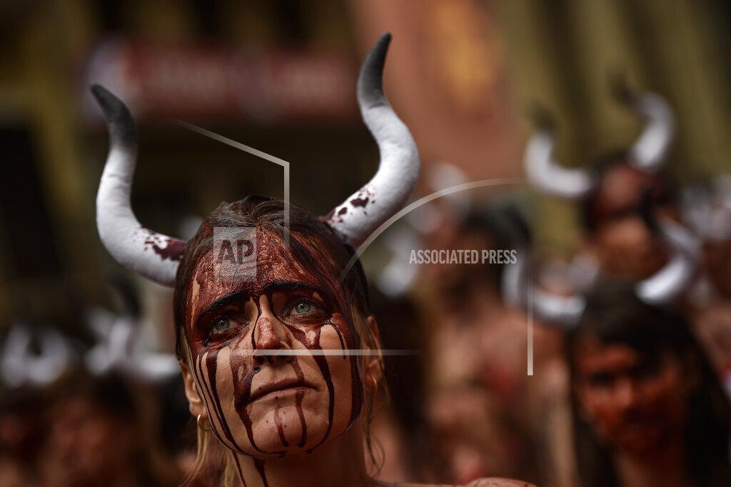 APTOPIX Spain Bullfighting Protest