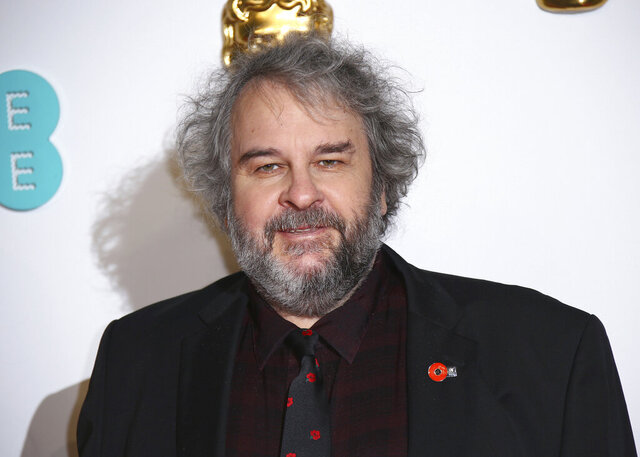 FILE - In this Feb. 10, 2019 file photo, Peter Jackson poses for photographers at the BAFTA awards in London. Jackson's company, Weta Digital, one of the world's premier visual effects companies, will begin producing original content. (Photo by Joel C Ryan/Invision/AP, File)