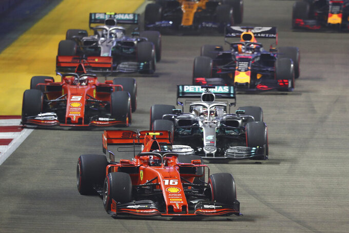 Vettel ends 13-month winless run; Ferrari 1-2 at Singapore