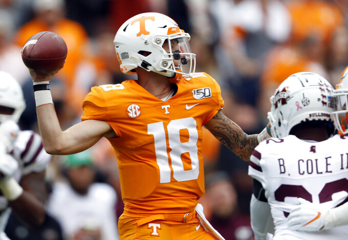 Pruitt, Tennessee trying to halt losing streak vs No. 1 Bama