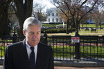Special Counsel Robert Mueller walks past the White House after attending services at St. John's Episcopal Church, in Washington, Sunday, March 24, 2019. Mueller closed his long and contentious Russia investigation with no new charges, ending the probe that has cast a dark shadow over Donald Trump's presidency. (AP Photo/Cliff Owen)