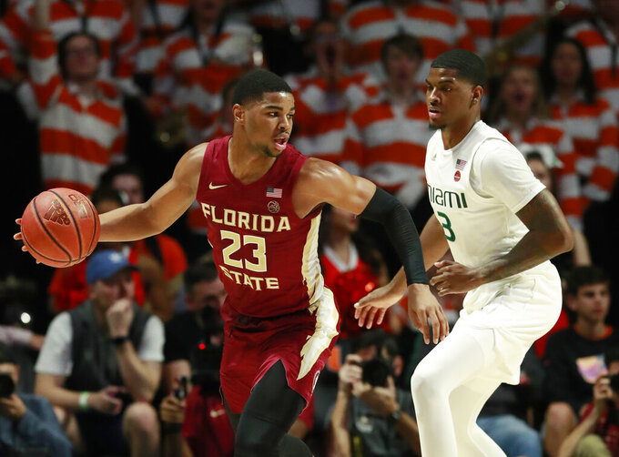Walker's 6 3s help FSU beat Miami 78-66