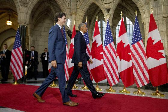 Barack Obama, Justin Trudeau