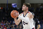 Gonzaga forward Corey Kispert (24) prepares to shoot during the second half of an NCAA college basketball game against Alabama State in Spokane, Wash., Tuesday, Nov. 5, 2019. Gonzaga won 95-64. (AP Photo/Young Kwak)