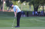 Webb Simpson putts on the first hole during the first round of the Valspar Championship golf tournament in Palm Harbor, Fla., Thursday, March 21, 2019. (Dirk Shadd/Tampa Bay Times via AP)