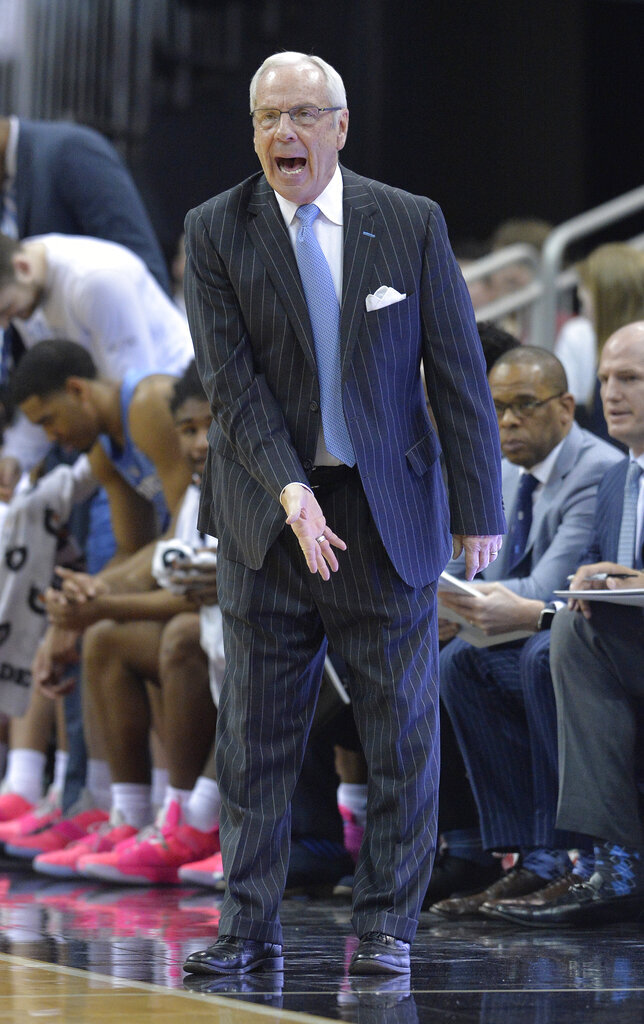 No. 9 Tar Heels avenge loss, topping No. 15 Louisville 79-69