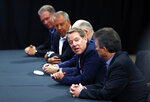 Ford Motor Co., Executive Chairman Bill Ford opens contract talks with the United Auto Workers, Monday, July 15, 2019, in Dearborn, Mich. (AP Photo/Carlos Osorio)