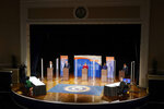 Democratic candidates for governor of Virginia, Del. Lee Carter, left, former Gov. Terry McAuliffe, second from left, state Sen. Jennifer McClellan, center, Del. Jennifer Carroll Foy, second from right, and Virginia Lt. Gov. Justin Fairfax, right, participate in a debate at Virginia State University in Petersburg, Va., Tuesday, April 6, 2021. (AP Photo/Steve Helber)