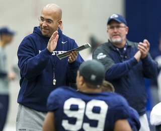 Penn State football practice, Nov. 19, 2014