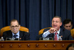 House Judiciary Committee Chairman Rep. Jerrold Nadler of N.Y., listens as ranking member Rep. Doug Collins, R-Ga., speaks during a House Judiciary Committee markup of the articles of impeachment against President Donald Trump, Wednesday, Dec. 11, 2019, on Capitol Hill in Washington. (AP Photo/Jose Luis Magana, Pool)