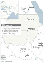 Graphic locates Sudan;