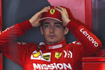 Ferrari driver Charles Leclerc of Monaco prepares for the first practice session of the Chinese Formula One Grand Prix at the Shanghai International Circuit in Shanghai on Friday, April 12, 2019. (AP Photo/Ng Han Guan)
