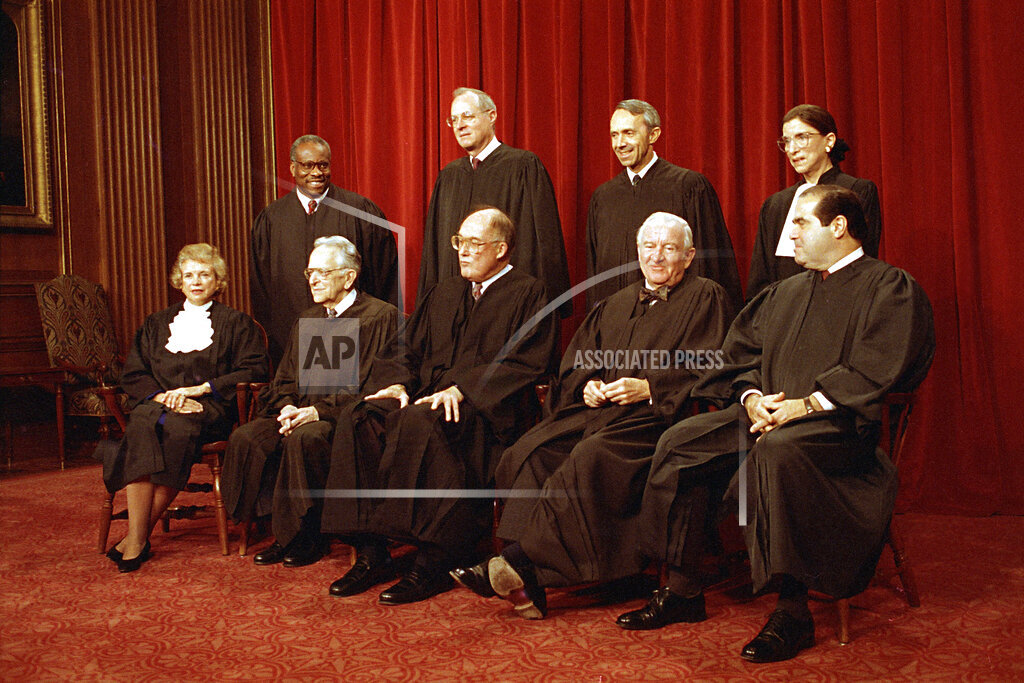 Associated Press Domestic News Dist. of Columbia United States SCOTUS PORTRAIT 1993