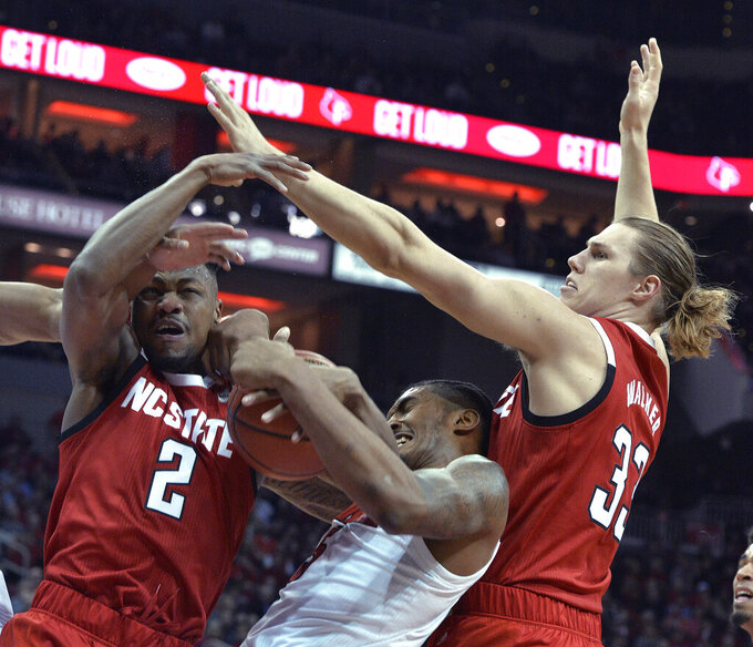 No. 23 Louisville outlasts No. 21 N.C. State 84-77