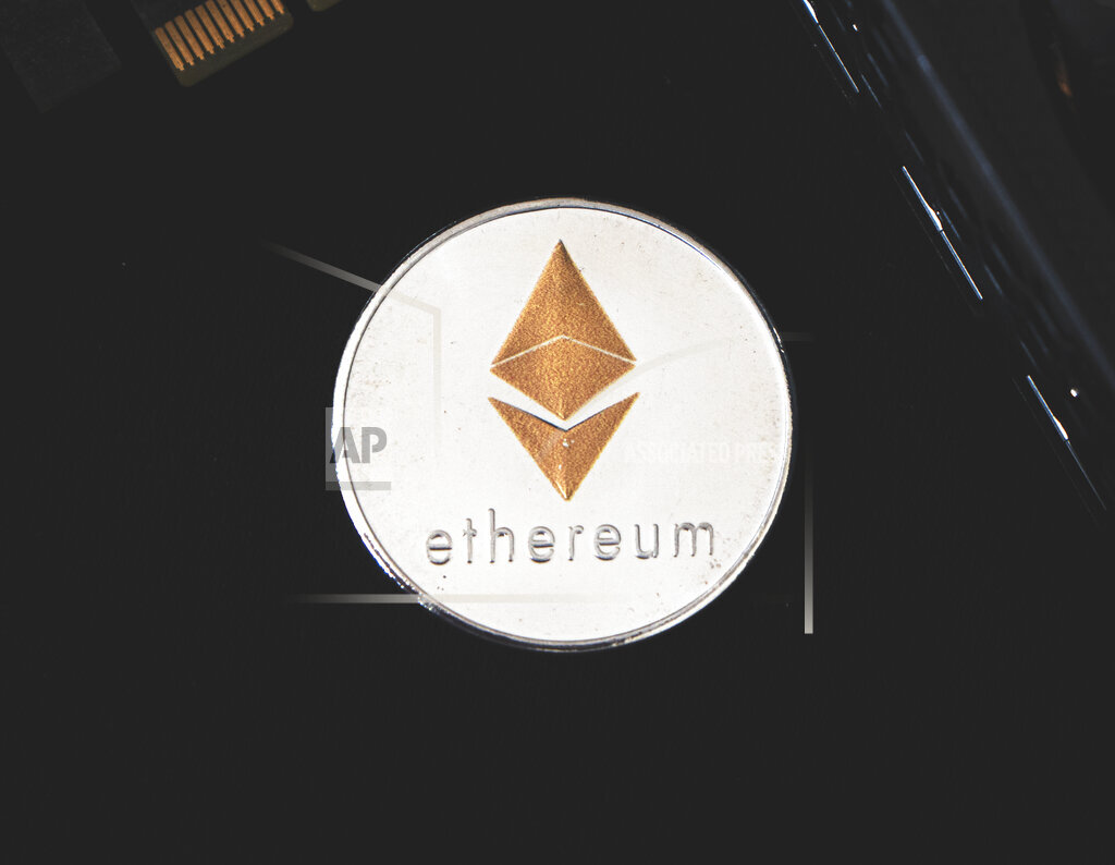 Ethereum, Ether, ETH, decorative coin, graphics cards, card