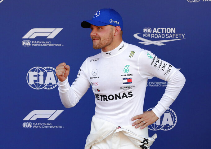 Bottas takes pole at Spanish GP ahead of Hamilton