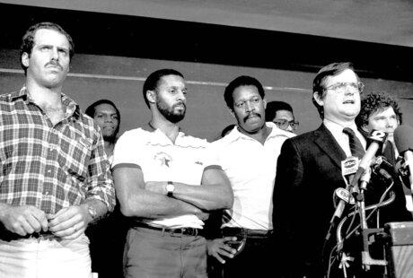Ed Garvey, Dave Stalls, Burgess Owens, James Lofton, Gene Upshaw, Stan White