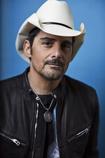 This Nov. 18, 2019 photo shows country singer Brad Paisley posing for a portrait in New York to promote his new variety special,