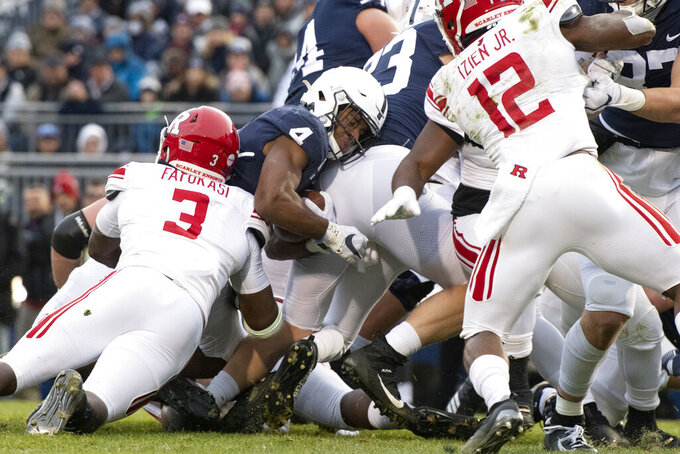 Brown's 3 TDs lead No. 12 Penn State over Rutgers 27-6