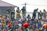 Green Bay Packers fans attend NFL football training camp Saturday, July 31, 2021, in Green Bay, Wis. (AP Photo/Matt Ludtke)