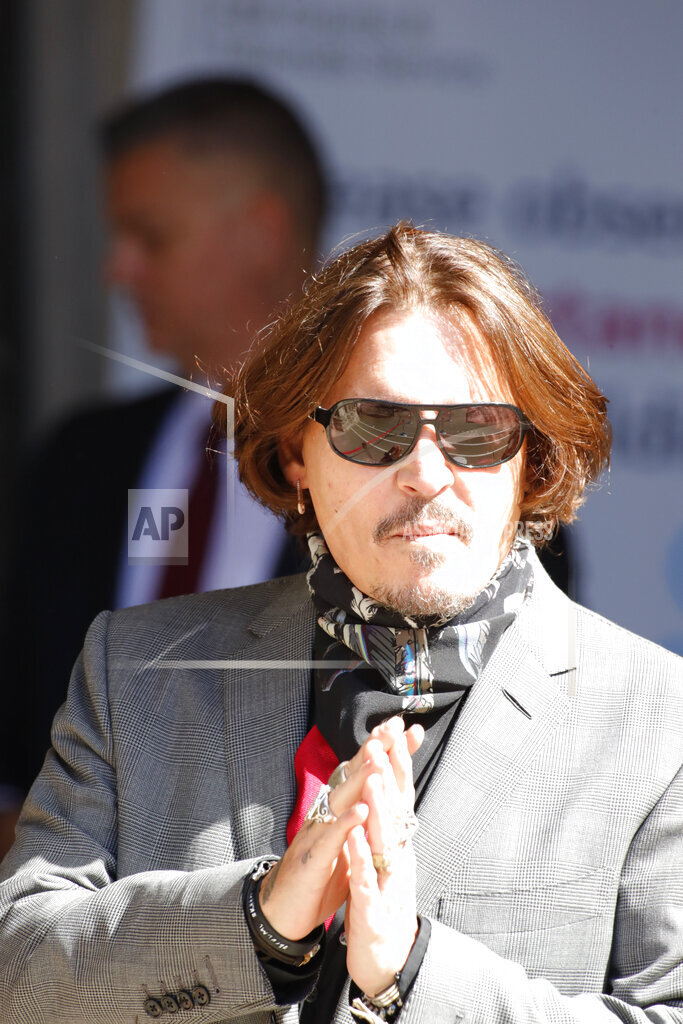Johnny Depp attends libel trial at The Royal Courts of Justice