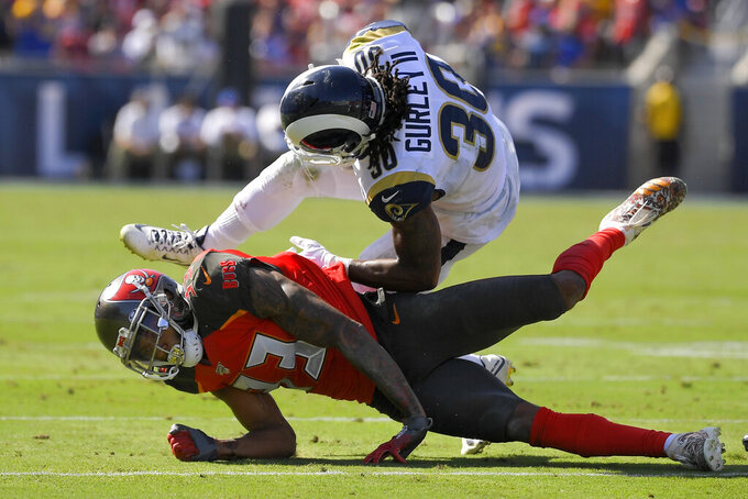 LA Rams RB Todd Gurley misses practice with bruised thigh
