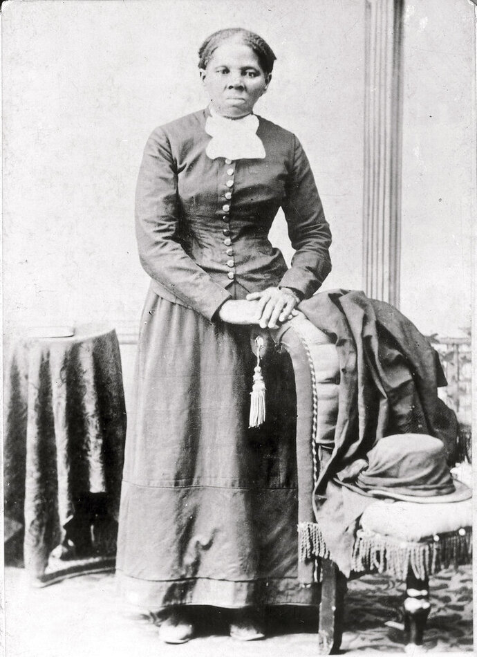 FILE - This 1860-75 photo made available by the Library of Congress shows Harriet Tubman. Treasury Secretary Steven Mnuchin is calling