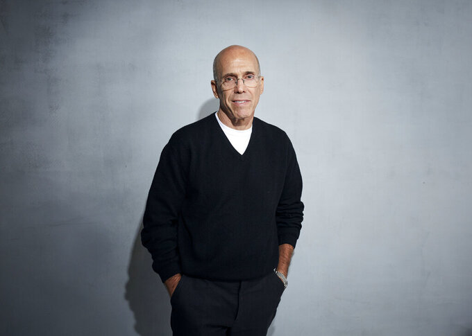 """FILE - In this Jan. 24, 2020 file photo, Jeffrey Katzenberg poses for a portrait to promote """"Quibi"""" at the Music Lodge during the Sundance Film Festival in Park City, Utah.   Less than a year ago, Quibi launched a splashy Super Bowl ad that posed the question """"What's a Quibi?"""" People may still be scratching their heads. The service struggled to reach viewers, as short videos abound on the internet and the coronavirus pandemic kept many people at home. It announced it was shutting down in October, just six months after its April launch. (Photo by Taylor Jewell/Invision/AP, File)"""