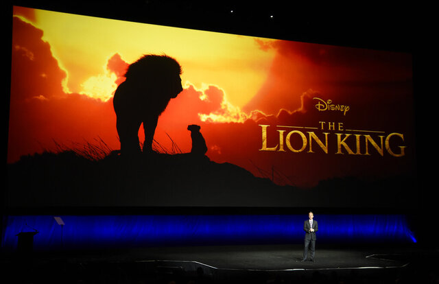 FILE - In this April 3, 2019, file photo, Sean Bailey, president of Walt Disney Studios Motion Picture Production, discusses the upcoming live-action film