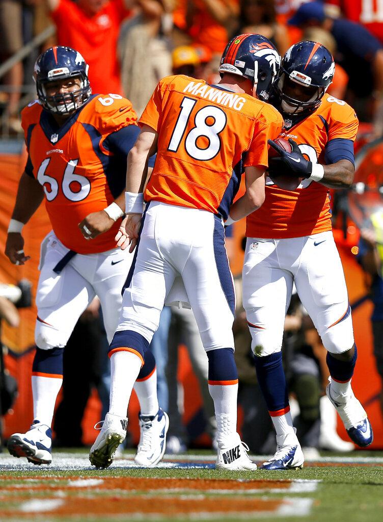 Peyton Manning, Julius Thomas, Manny Ramirez