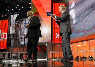 Roger Goodell, Jim Brown,