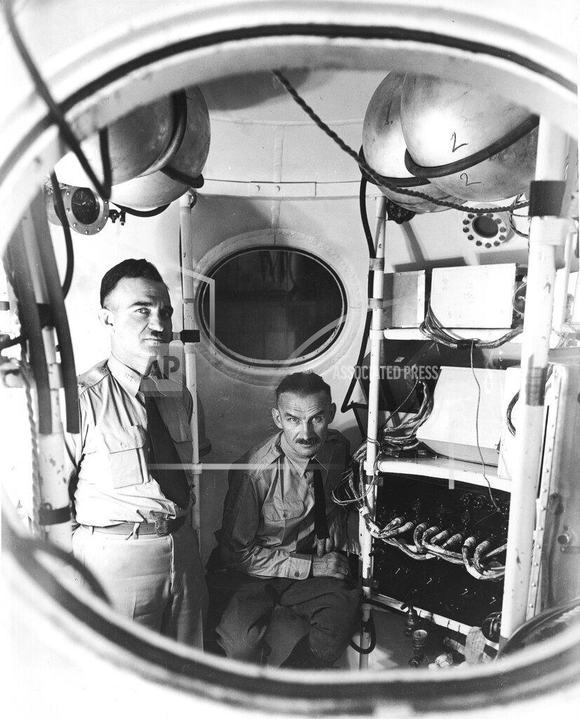 Watchf AP A  SD USA APHS449049 Major William E. Kepner, left, and Captain A. W. Stevens