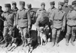 In this photo taken on Feb. 15, 1989, Soviet Army soldiers with their war-dogs line up after their unit crossed a bridge on the border between Afghanistan and then Soviet Uzbekistan near the Uzbek town of Termez, Uzbekistan. When the Soviet Union completed its troops withdrawal from Afghanistan on this day, it was widely hailed as a much-anticipated end to a bloody quagmire, but public perceptions have changed and many Russians now see the 10-year Soviet war in Afghanistan as a necessary and largely successful endeavor. (AP Photo/Alexander Zemlianichenko)