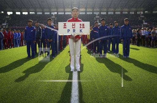 APTOPIX North Korea Pyongyang Marathon