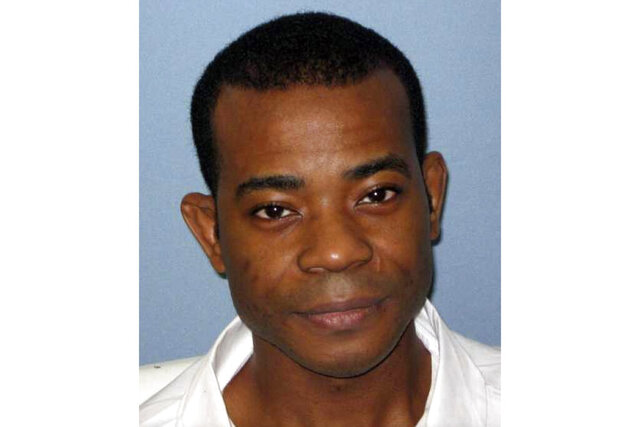 This undated photo from the Alabama Department of Corrections shows Nathaniel Woods. Martin Luther King, III, the son of civil rights leader Martin Luther King, Jr., as well as family members of Woods, a condemned Alabama inmate, are asking the governor to to stop his execution. Woods is scheduled to be executed on Thursday, March 5, 2020. Woods and co-defendant Kerry Spencer were convicted of capital murder for the 2004 killings of three Birmingham police officers. Spencer was also sentenced to death for the killings (Alabama Department of Corrections via AP)