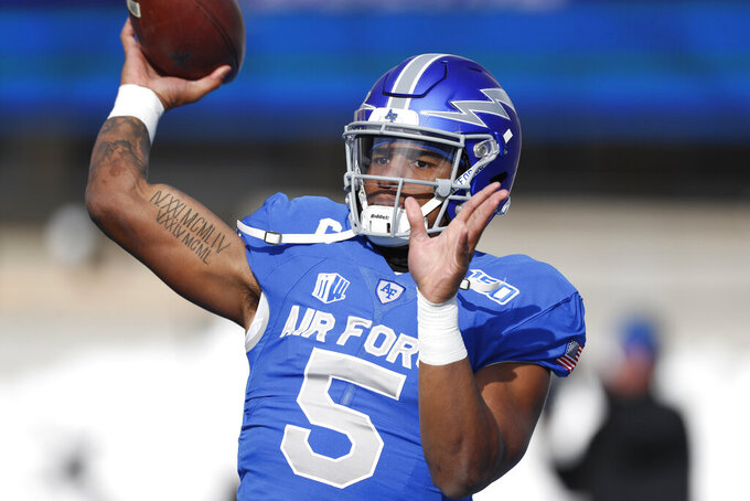 Air Force downs Wyoming 20-6 behind Hammond