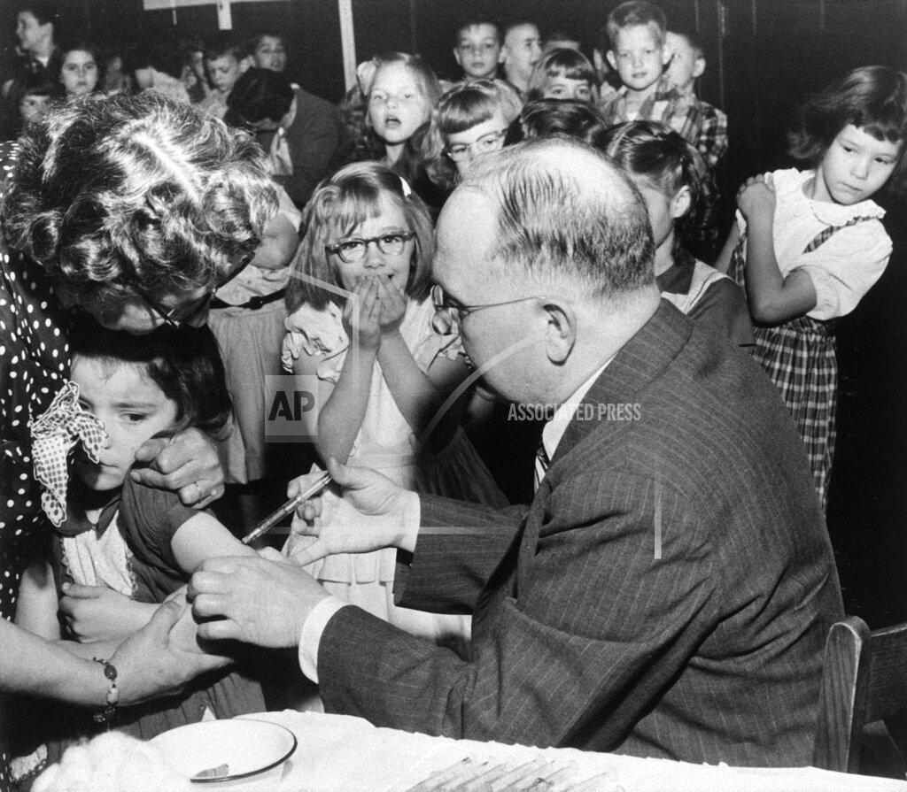 Watchf Associated Press Domestic News  Pennsylvania United States APHS48184 Fulton School Polio Shots 1955