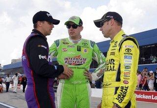 Denny Hamlin, Kyle Busch, Matt Kenseth