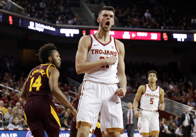 Boatwright's 3-pointer gives USC 69-67 win over Arizona St.