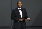 FILE - Kenan Thompson presents the award for outstanding drama series at the 70th Primetime Emmy Awards on Sept. 17, 2018, in Los Angeles. Thompson turns 43 on May 10. (Photo by Chris Pizzello/Invision/AP, File)