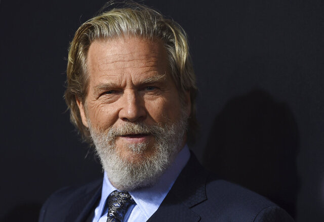 File-This Sept. 22, 2018, file photo shows cast member Jeff Bridges arriving at the Los Angeles premiere of