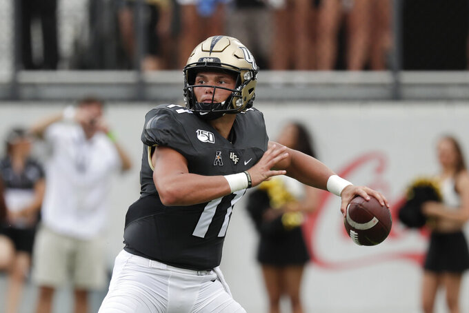 Gabriel throws 4 TD passes, No. 17 UCF routs Stanford 45-27