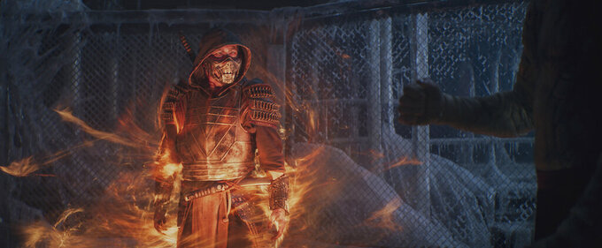 """This image released by Warner Bros. Pictures shows Hiroyuki Sanada in a scene from """"Mortal Kombat."""" (Warner Bros. Pictures via AP)"""