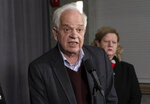 Canadian Ambassador to China, John McCallum, responds to questions following a participation at the federal cabinet meeting in Sherbrooke, Quebec, Wednesday, Jan. 16, 2019. (Paul Chiasson/The Canadian Press via AP)