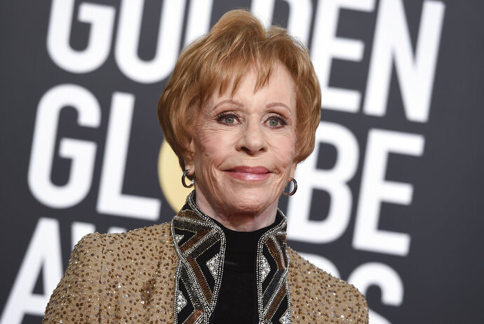FILE - Carol Burnett arrives at the 76th annual Golden Globe Awards on Jan. 6, 2019, in Beverly Hills, Calif. A Los Angeles Superior Court judge on Tuesday, Sept. 1, 2020, granted the 87-year-old Burnett and her husband Brian Miller custody of her 14-year-old grandson Dylan West until Jan. 8. The move came two weeks after Burnett and Miller had filed for custody, saying that her daughter, Erin Hamilton, had been struggling with addiction issues. (Photo by Jordan Strauss/Invision/AP, File)