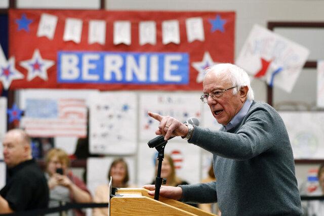 Democratic presidential candidate Sen. Bernie Sanders, I-Vt., speaks during a town hall meeting, Sunday, Dec. 15, 2019, in Keokuk, Iowa. (AP Photo/Charlie Neibergall)